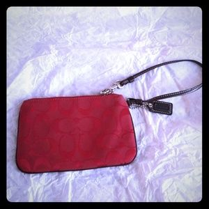 Red Coach Wristlet